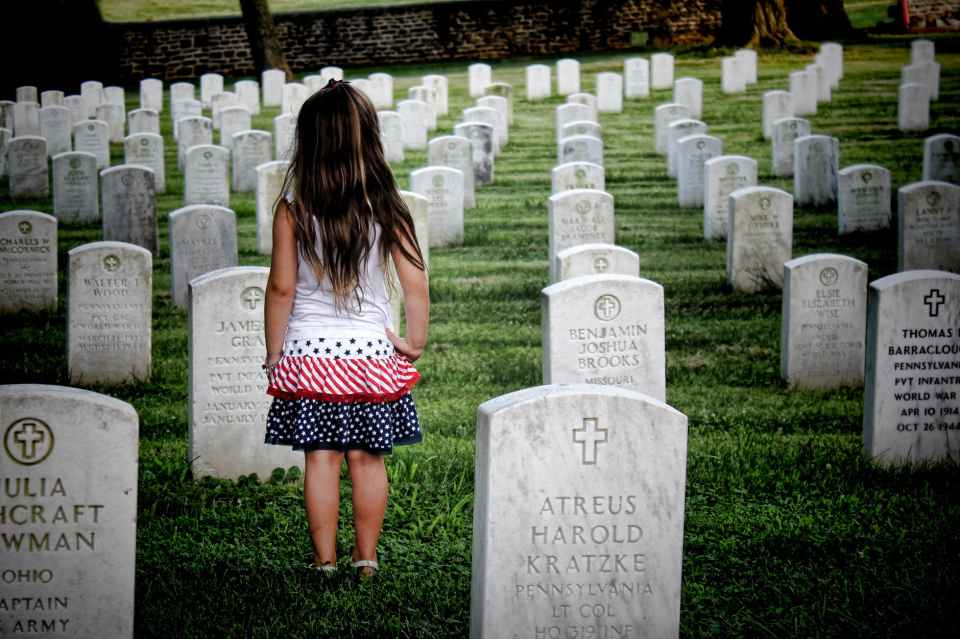 american back view burial cemetery